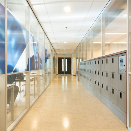 glascassette systeemwand
