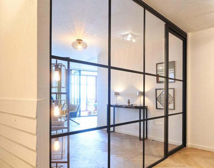 glaswand woonkamer